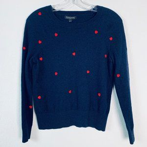 Banana Republic sz small embroidered heart sweater
